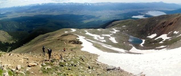 Descending the NE ridge.