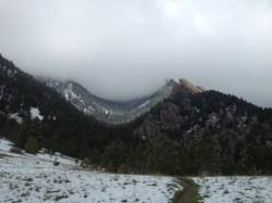 Grim-looking weather on Old Mesa.