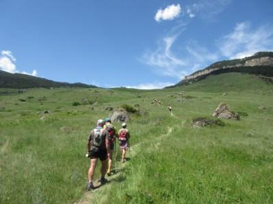 Mile 4: starting the steep climb.