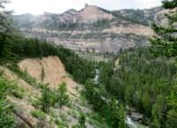 Mile 29: Nice overlook of the Little Bighorn canyon above Footbridge