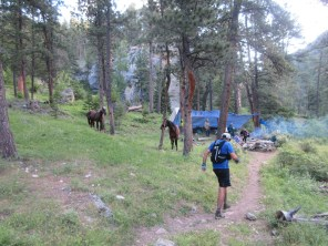 Mile 64: Narrows (Cathedral Rock) aid. Very western.
