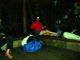 A pasta repast at the Peter's Mountain Shelter, Day 6