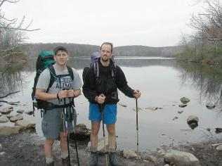 Mike and I at Sunfish Pond, one of the seven Natural Wonders of NJ.