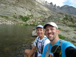 Mile 706: Aug 8. Blue Lake, Glacier Gorge, RMNP with Peter