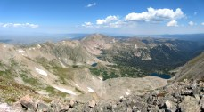 Looking north from Clark Peak into the depths of the Rawah Wilderness. So many lakes!
