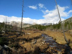 Mile 944: November 6. Ouzel Creek above the falls, Wild Basin, RMNP