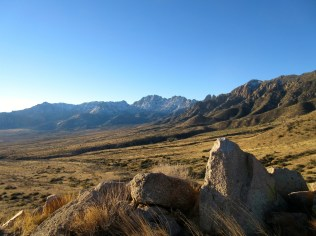East side of the Organ Mountains.