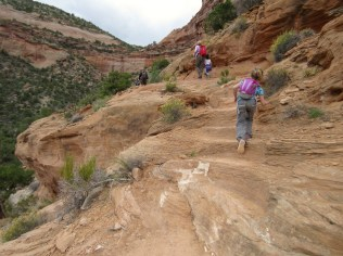 Hiking back out of Monument Canyon.