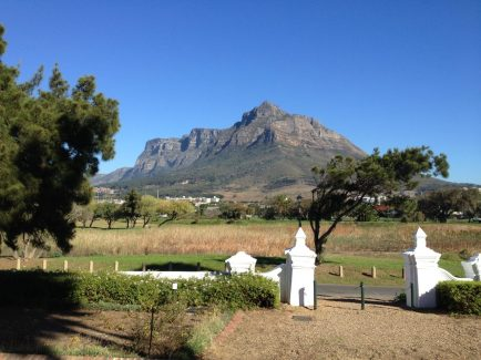 Devil's Peak from the Protea Mowbry, our de-facto Cape Town base of operations.