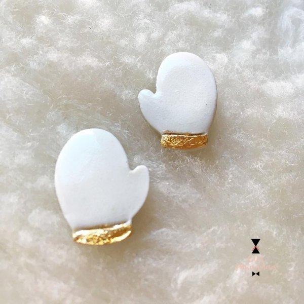 Duo de pins en porcelaine-moufles CDA Petites Choses