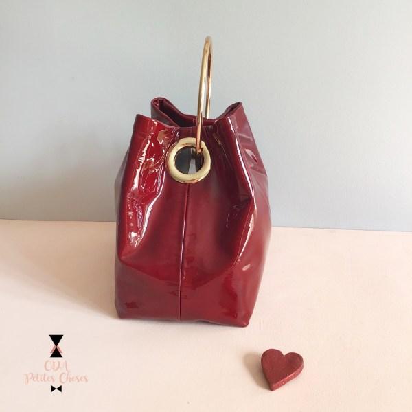 mini-sac-seau-vernis-rouge- CDA Petites Choses 3
