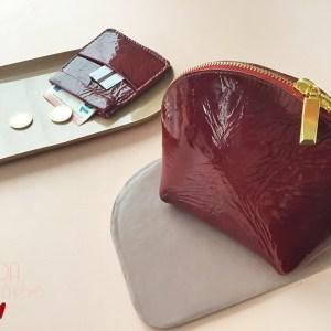 Trousse et porte monnaie en cuir vernis CDA Petites Choses