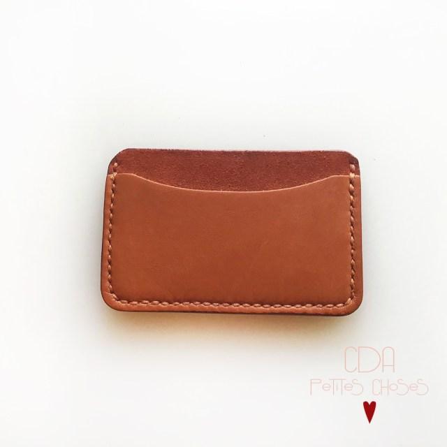 porte-carte-etui en cuir ecureuil CDA Petites Choses