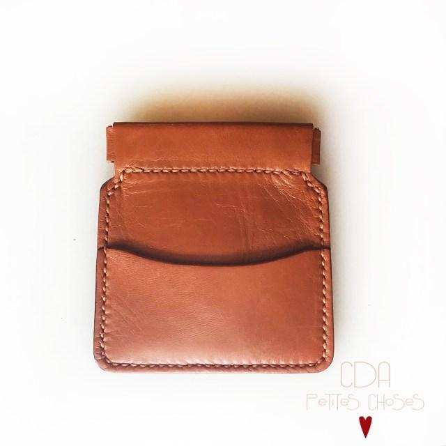 Porte-monnaie clic-clac en cuir écureuil CDA Petites Choses
