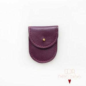 mini-pochette-en-cuir-violet-fonce-1 CDA Petites Choses