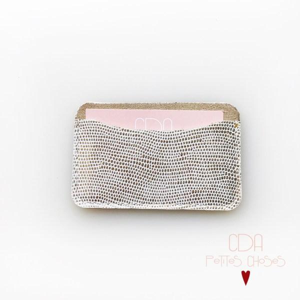 porte-carte-simple-en-cuir-embosse-glauchat-or-2 CDA Petites Choses
