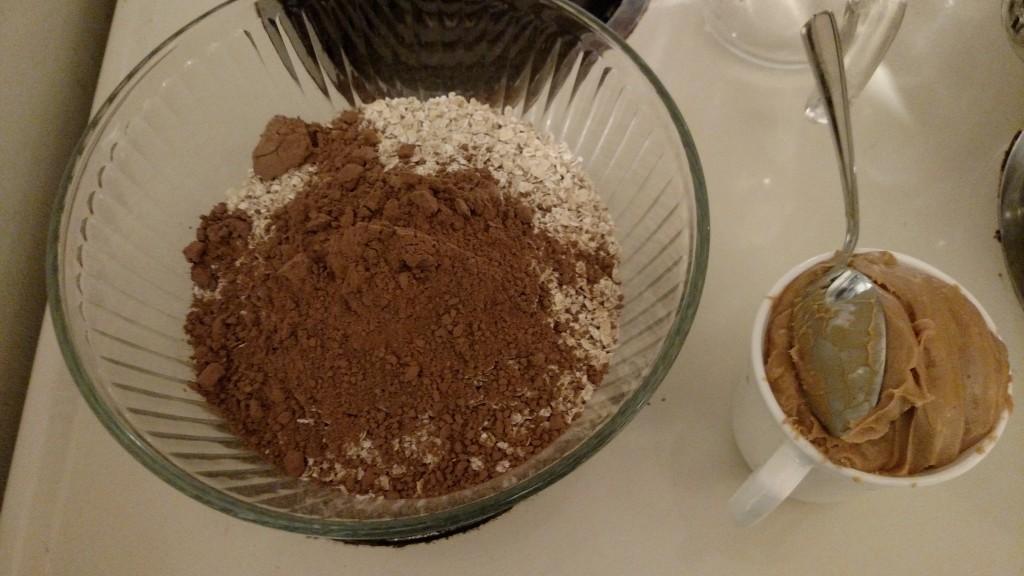 peanut butter, oatmeal, cocoa, No bake chocolate oatmeal cookies