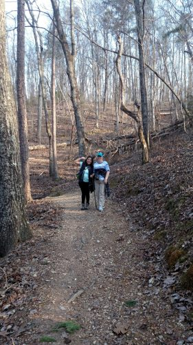 Laura and Yahaira Leap Year Hike 2016, Hiking, geocaching