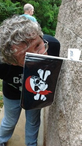 Flagg meets flag on the treasure hunt