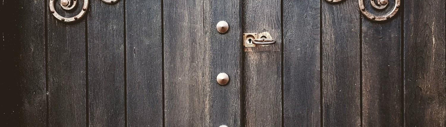 Wooden Door Way, Amazon Key