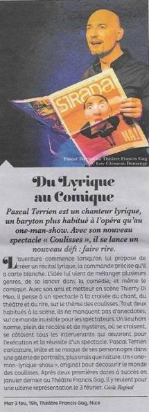 Coulisses - Spectacle 2015 - Article dans La Strada