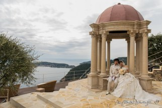 La pose des mariés