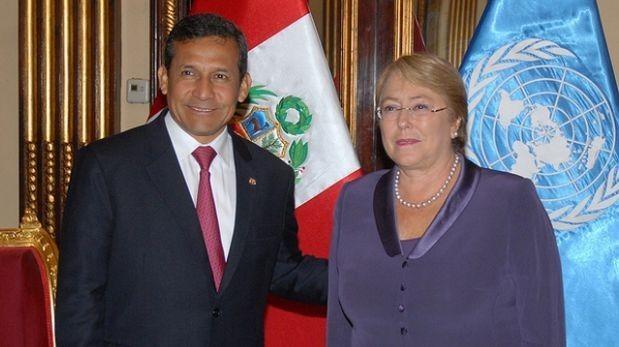 Humala y Bachelet tendrán cita bilateral el próximo martes