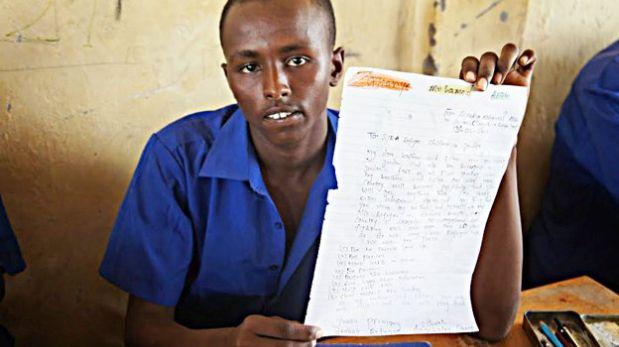Siria: Niños de Kenia envían cartas a refugiados de guerra