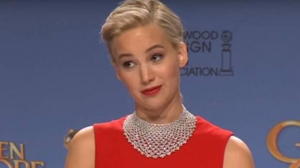 Jennifer Lawrence se enfadó con periodista en Globos de Oro