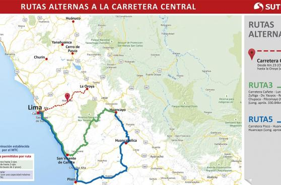 La Carretera Central no estará disponible varios días