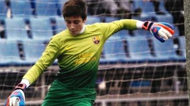 67933 Barcelonas youth goalie saves six penalties & scores winner v Atletico Madrid