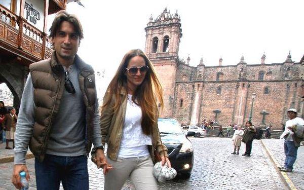 David Ferrer y su novia hacen turismo en el Cusco