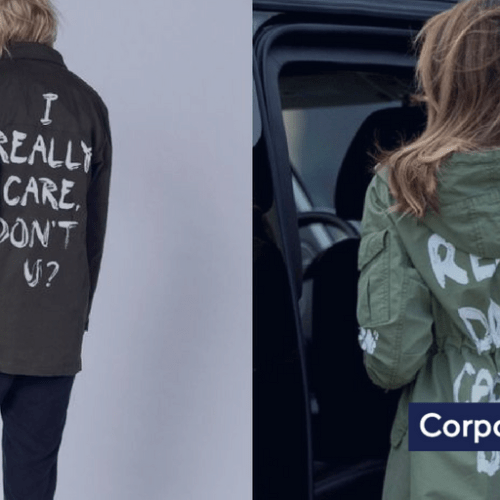 I Really Care Fashion Line in response to Melania's Trump fashion statement