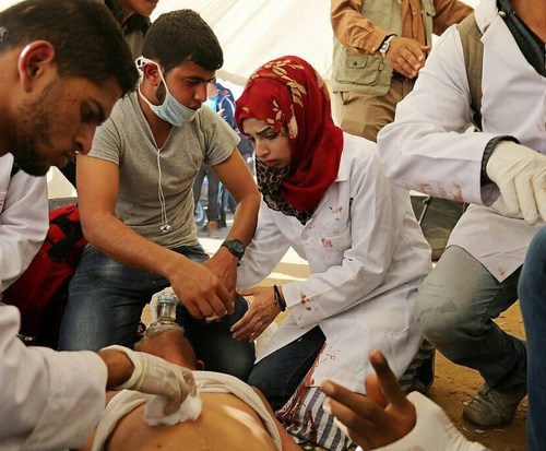 21 year old voluntary nurse killed by Israeli soldiers. Israel army investigating reports