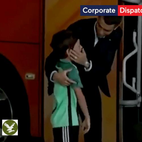 Cristiano Ronaldo makes a boy's dream come true