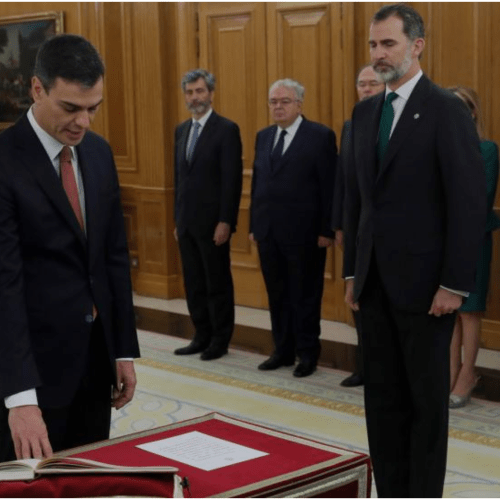 Pedro Sanchez sworn in as Spain's new Prime Minister