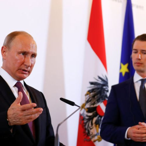 Putin visits Austria in first visit in EU state since re-election