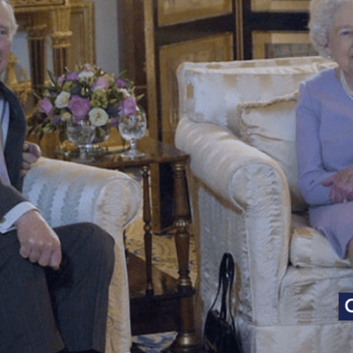Funny video showing Queen Elizabeth and Prince Charles watching England vs Sweden