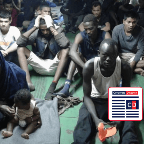 Rescued migrants on board container ship in Misrata refuse to disembark