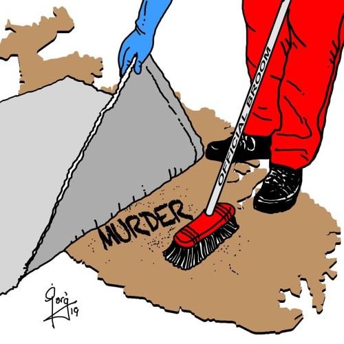 Cartoon – Daphne Caruana Galizia's murder – 16 months on