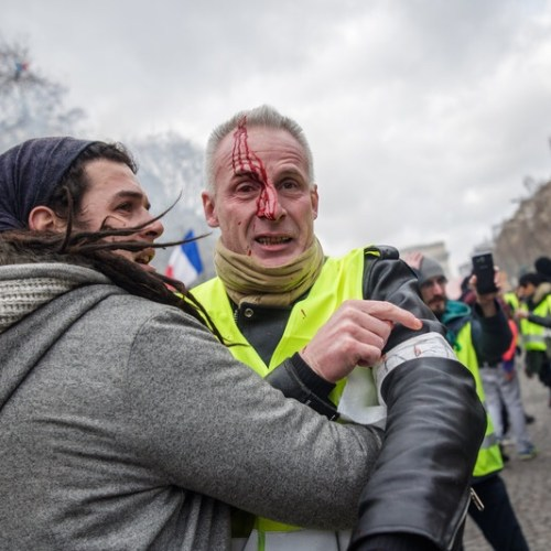 Yellow vests protests turn violent