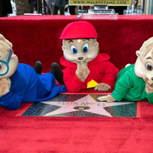 Photo Story – Alvin and the Chipmunks unveil star on Hollywood's Walk of Fame