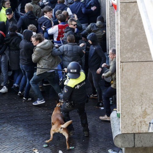 120 Juventus fans arrested, Ajax supporters clash with riot police in separate incidents ahead of Champions League match in Amsterdam