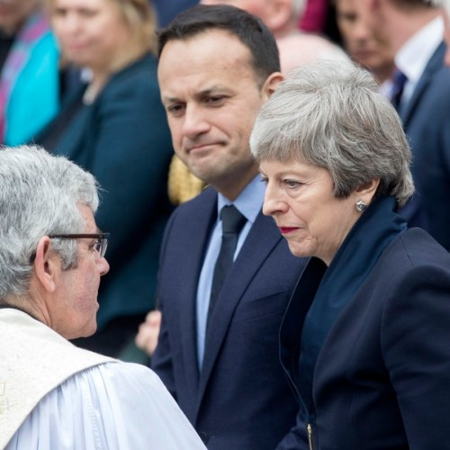 Joint announcement by May and Varadakar for all-party talks about Northern Ireland's future