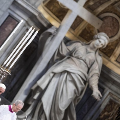 Pope Francis ushers in the most solemn period in the Catholic liturgical calendar