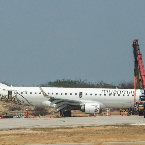 Photo Story – Myanmar National Airlines successful emergency landing