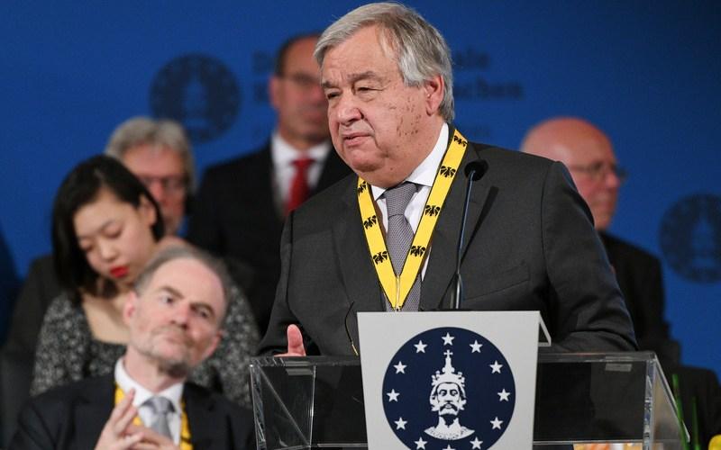 U.N. warns world risks a descent into lawlessness