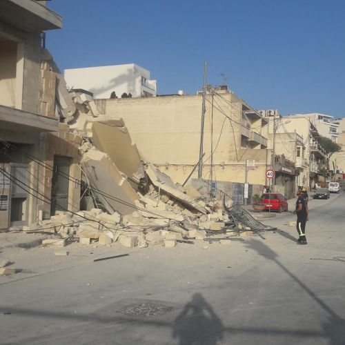 UPDATED: Building collapses in Mellieħa, woman rescued from under the rubble