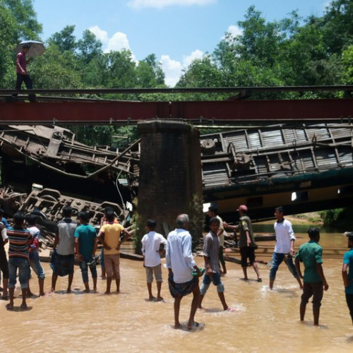 Photo Story: Train accident in Bangladesh