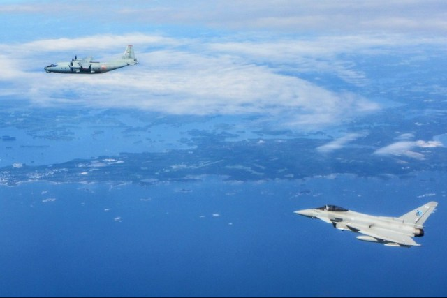 British RAF Typhoons scrambled twice in one day to intercept Russian military aircraft close to Estonian airspace